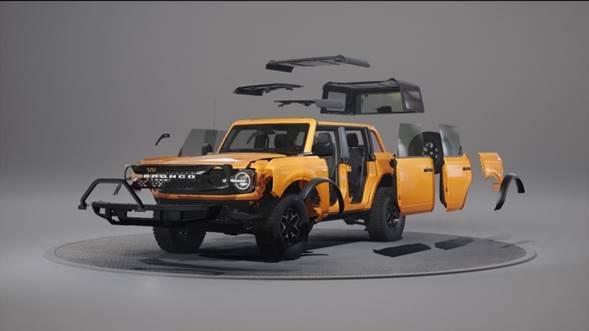 La nueva Ford Bronco fue diseñada para una personalización fácil e ilimitada