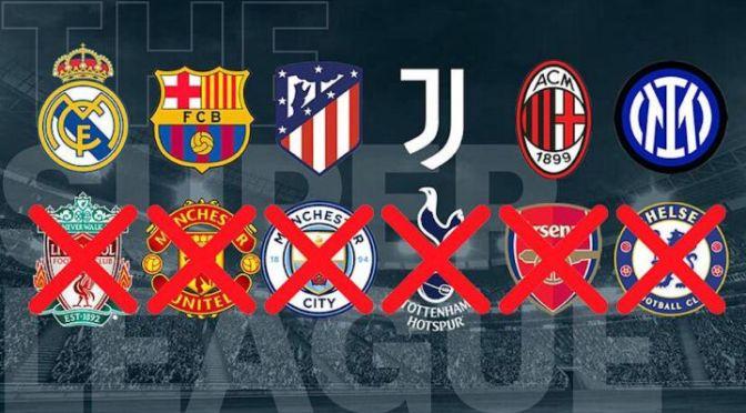 Colapsa la Superliga tras retiro de los 6 clubes ingleses