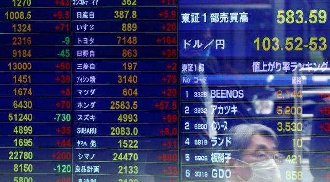 Acciones asiáticas sufren salidas extranjeras por tercer mes consecutivo