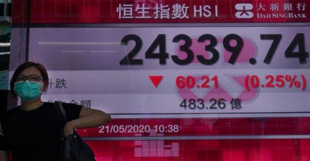 Acciones de Hong Kong cayeron a un mínimo de 7 semanas debido a las preocupaciones antimonopolio