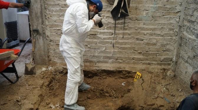 Hallan restos óseos en casa de presunto feminicida