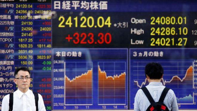 Acciones japonesas terminan más bajas a medida que las acciones cíclicas se arrastran