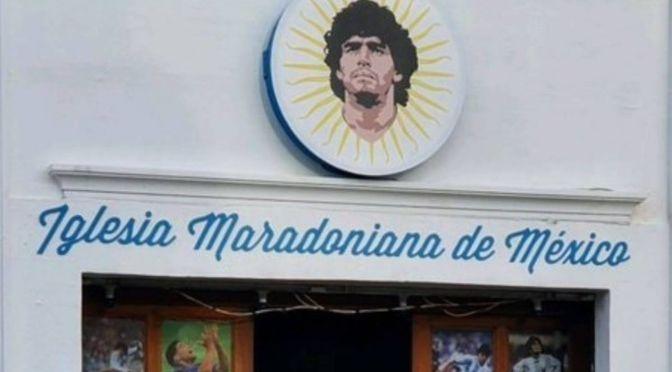 Iglesia en honor a Maradona abre sus puertas en Puebla