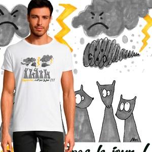 T-shirt Homme Aujourd'hui, c'est pas le jour !!! by Abi