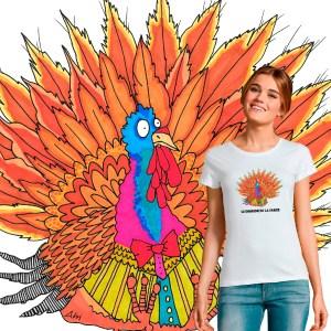 t-shirt Femme Le Dindon de la Farce illustration par Abi