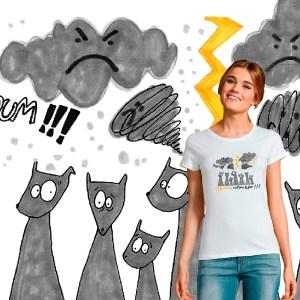 t-shirt femme colere Aujourd'hui, c'est pas le jour illustration par Abi