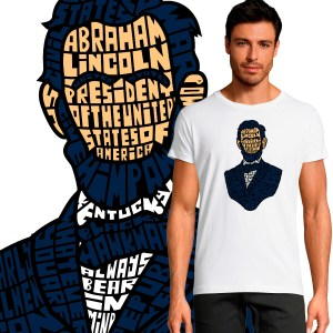 T-shirt Homme Abraham Lincoln By KalliGram