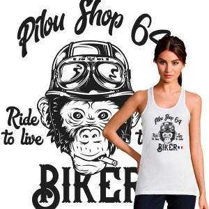 debardeur-femme-motarde-biker monkey