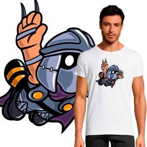 T-shirt Homme Pop Culture Shredder Mario crossover tortues ninja