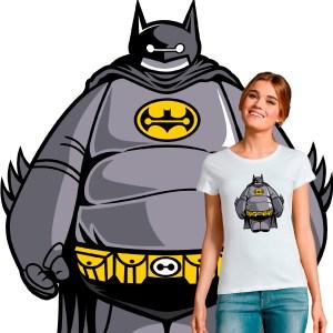 T-shirt femme pop culture crossover Baymax Batman