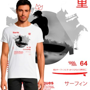 t-shirt surf biarritz cote des basque pyrenees atlantique surf wear