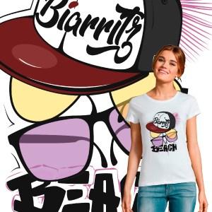 T-shirt Femme Biarritz Beach original