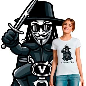 Tee-shirt femme pop culture vendetta original