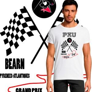 tee shirt homme grand prix de Pau 64 bearn pyrenees