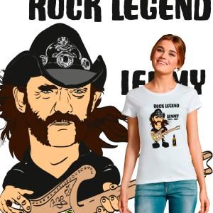 tee shirt femme rock n roll legend lemmy motorhead jack daniel's