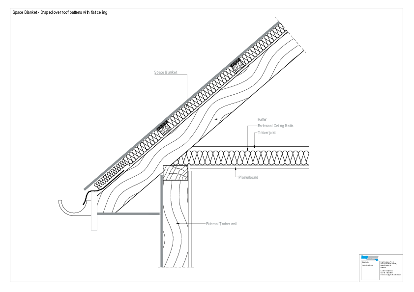 hight resolution of cad file draped over roof battens