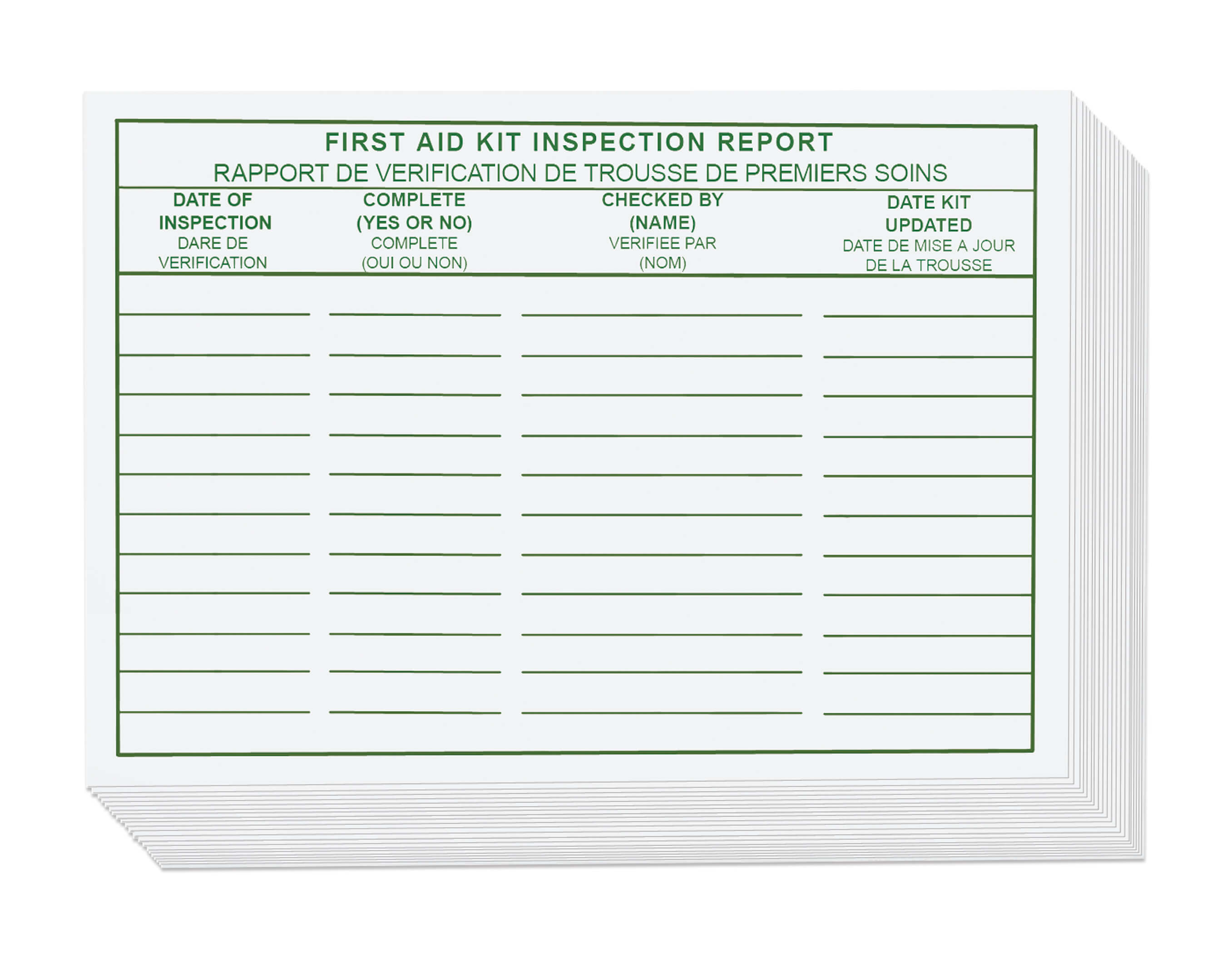 First Aid Kit Inspection Report Sticker