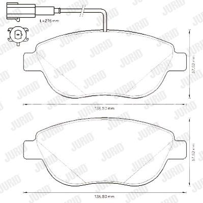 Plaquettes de frein avant-FIAT STILO 1.9 JTD 80cv (192