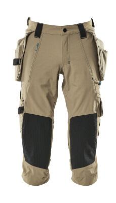 17049 Driekwart broek met knie- en spijkerzakken