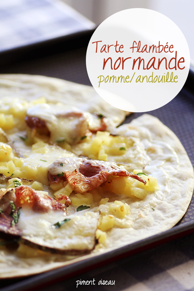 tarte flambée normande pomme-andouille