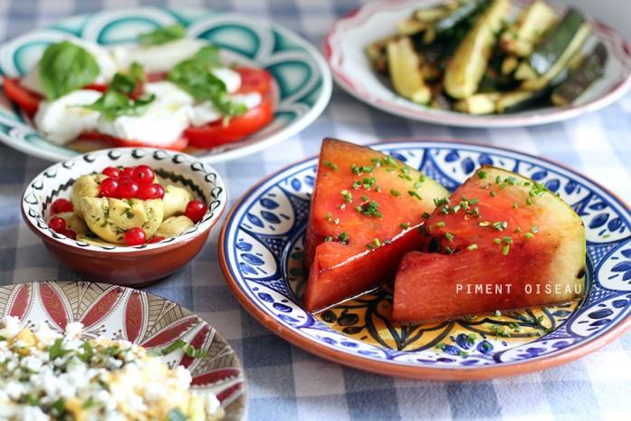 pastèque grillée