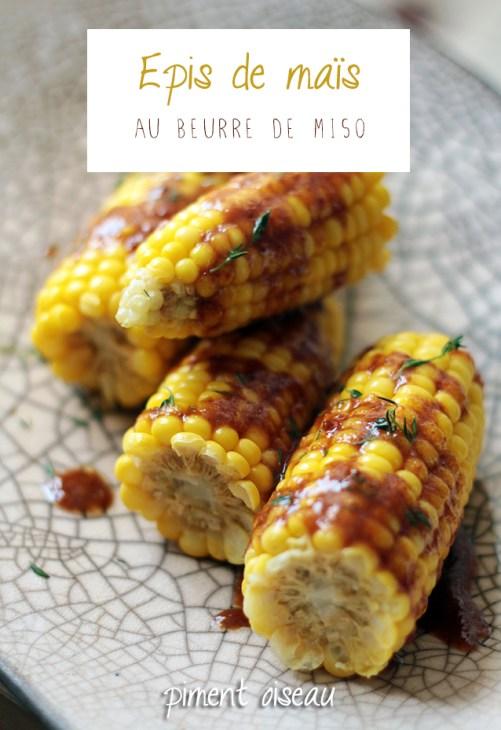 épis de maïs au beurre de miso - fresh corn with miso butter