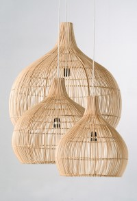 Rattan Drop Pendants | Piment Rouge Custom Lighting Project