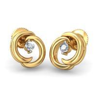 Gold Earrings For Women Indian : Beautiful Yellow Gold