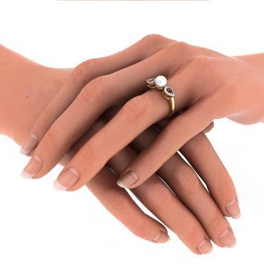 pearl rings jewellery