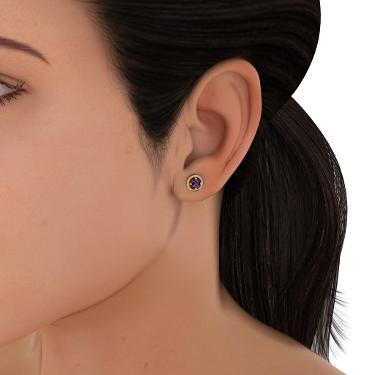 gold designer earrings