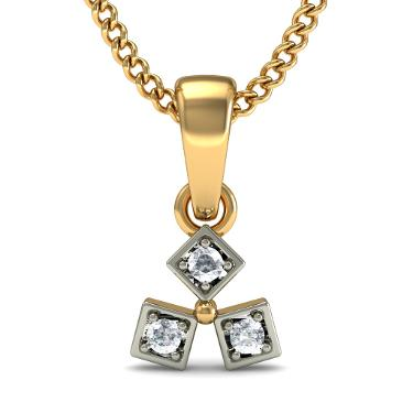 Round Diamond Trinity Pendants