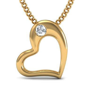 Heart Shape Pendants In Diamonds