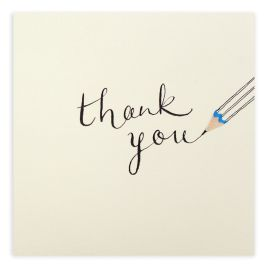 Pencil Thank You Card