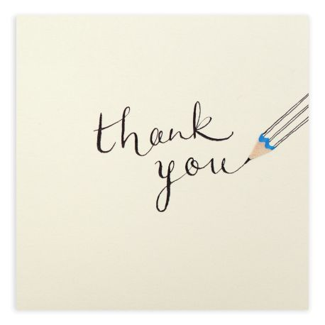 Pencil Shavings Cards – Thank You Pencil – S