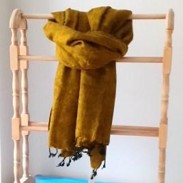 Mustard 'Yak' Shawl