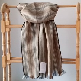 Brown Lines Alpaca Scarf