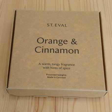 Orange & Cinnamon Tea Lights – Boxed