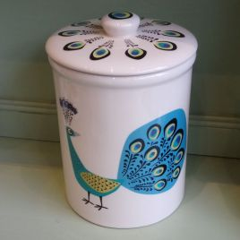 Peacock Storage Jar