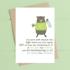 Coffee & Alcohol Birthday Card