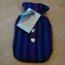 Blue Lines Hot Water Bottle