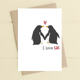 I Love Us Card
