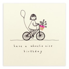 Wheelie Birthday Card