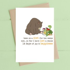 Diet & Happiness Card