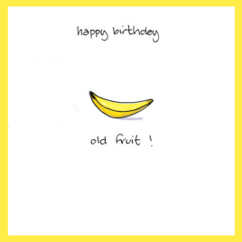 Old Fruit Birthday Card