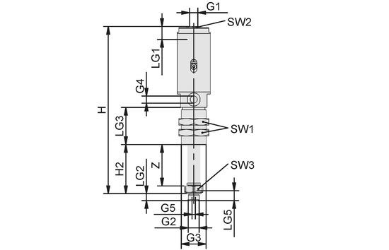 Spring plunger lockable FST-LOCK-HD G3/8-AG 100 NC AB