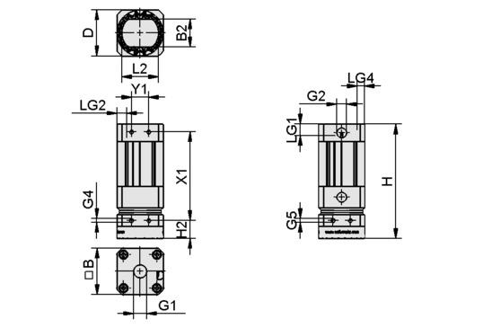 Garra magnética SGM-HP 30 G1/8-IG > Garras magnéticas