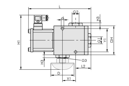 Elektromagnetventil EMVO 12 230V-AC 3/2 NC