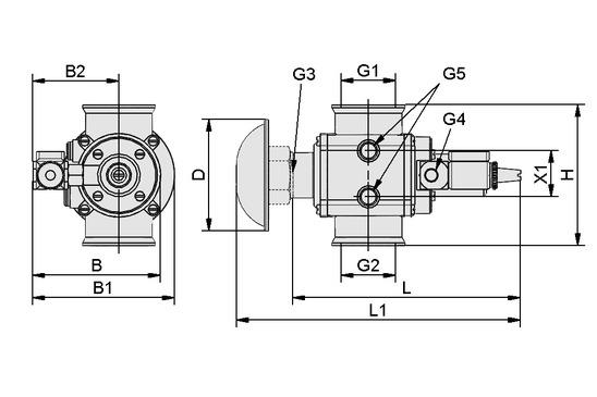 Válvula electromagnética EMVP 50 24V-DC 3/2 NO