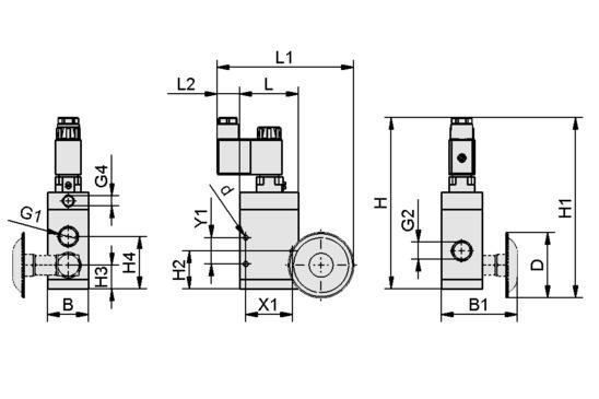 Elektromagnetventil EMVP 10 230V-AC 3/2 NO/NC