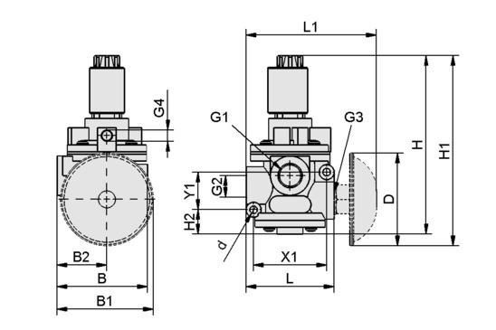 Elektromagnetventil EMVP 15 24V-DC 3/2 NO/NC